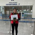 Chị Thiều Thị Loan – giúp việc Đài Loan xuất cảnh ngày 16/02/2020